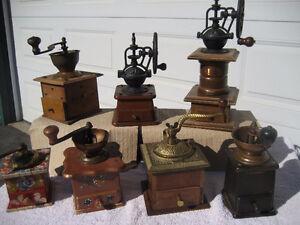 Vintage European coffee grinders