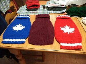 maple leaf & Canadien NHL doggie sweaters, custom made