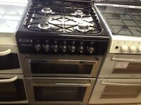 Black/silver 60cm gas cooker