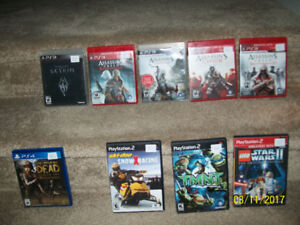 ps2, ps3 and ps4 games