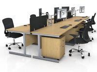 Oak office furniture liquidation sale