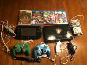 WiiU console, games, and accessories