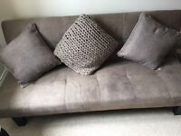 Mink Fold Down Sofa Bed with Next Cushions