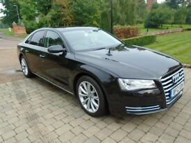 Audi A8 3.0 TDI SE EXECUTIVE 204PS WITH TOP SPEC SAT NAV FULL LEATHER (black) 2012