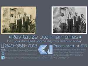 Revitalize old memories, Get your old photos restored!