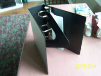 Large 3 ring binders - all black