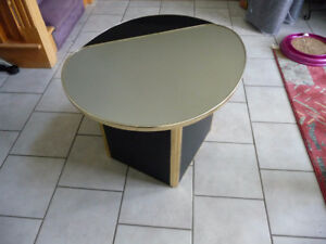 For sale...Black/Brass & mirror end table