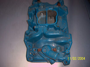 EARLY SMALL BLOCK 318 EDELBROCK ALUMINUM INTAKE