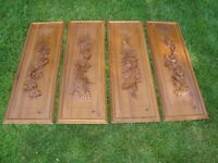 Au Lac Wood Carving Panels