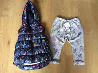 Next gilet 12-18 months and new matching trousers 9-12