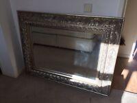 Large ornate mirror.