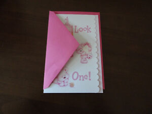 Brand new First 1st Birthday greeting card baby girl London Ontario image 7