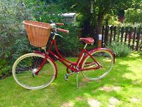 Ladies red Pashley bicycle