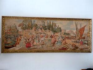Vintage handmade large framed tapestry wall hanging decor London Ontario image 2