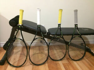 Used Four Wilson 98 Blade Tennis Rackets on Sale only for $300.0