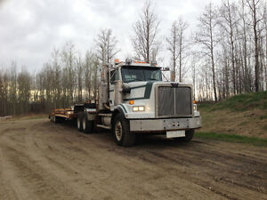 98 Western star winch w/ 04 Scona single drop tridem lowbed