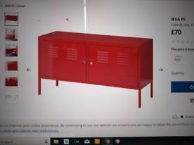 IKEA Red steel cabinets