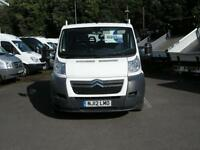 2012/12 CITROEN RELAY 35 L3 130 2.2HDI D/CAB ALUMINIUM DROPSIDE PICK-UP DIESEL