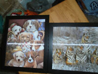 "♦ 2 matching picture 3D.. Measures: 11 ¼ ""x13 1/8 "" Both 5$ ♦"