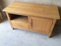 Solid oak tv cabinet in need of restoration