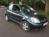 Toyota Yaris 2002 50k 1.0 FULL SERVICE HISTORY inc DEALERS Cheap insurance