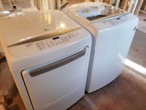 WHITE LG WASHER AND DRYER SET - $950