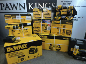 Dewalt Brushless drywall drill band saw air compressor saw nail
