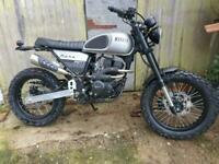 Brand new Bullit Hero 50cc retro scrambler motorcycle motorbike stunning classic