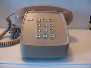 Microtel 1984 Push Button Beige Telephone Clean Working Order