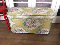 VINTAGE STORAGE BOX SHABBY CHIC FREE DELIVERY
