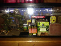 Large reptile tank for sale.