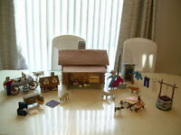 The Pioneers Settlement Needlepoint Doll House