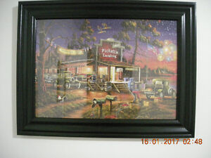 """Custom Framed Puzzle """"Days to Remember"""" Veterans Day American"""