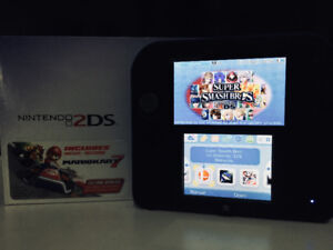 Blue Nintendo 2DS (4 Games Included!)