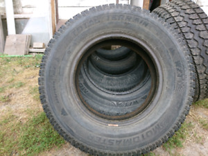 Used Set of 225/75-16 studded M+S Tires