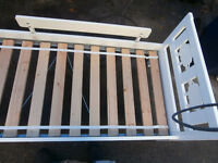1 small childs bed 65x30 in great shape $35just the bed 450-628-