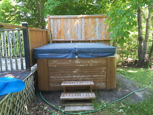 8 person hot tub in good condition. Everything works. Sold PPU