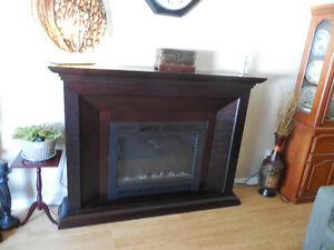 Beautiful Large Electric Fireplace with Mantel