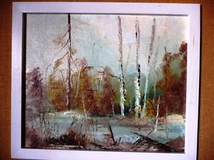 "Original Oil Landscape by W P Gamon ""Early Spring"" Stratford Kitchener Area image 2"