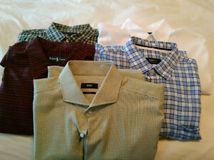 lots de 5 chemises Hugo Boss, Polo, Varvatos, Zegna
