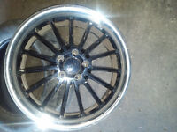 TSW 19INCH 5*112 USED GREAT CONDITION ALLOY RIMS BLK
