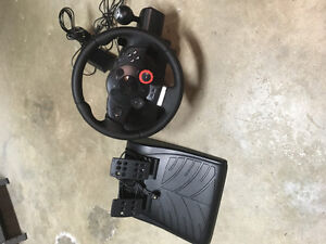 Steering wheel and pedals for PS3