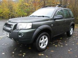 05/55 LAND ROVER FREELANDER 2.0 TD SW 5DR 4X4 IN MET GREEN
