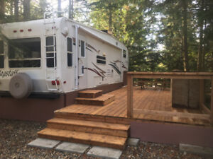 DOUBLE RV Site w/services and 5th wheel