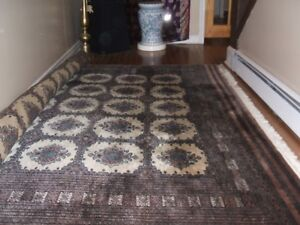 HANDKNOTTED PERSIAN BOKHARA RUG, VINTAGE