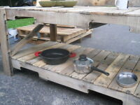 Mud Kitchen for the backyard chef!
