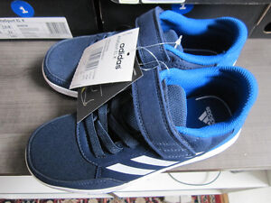 adidas running shoes,  boys  size 2, Br. New In Box