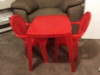 table and 2 chairs for kids