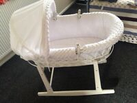 Moses basket and rocker