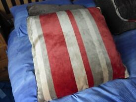 Six Large Cushions 24 inches square